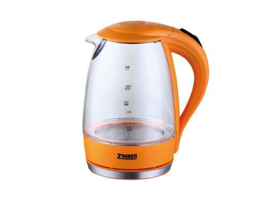 Чайник Zimber zm-10822 2200 Вт оранжевый 1.7 л пластик/стекло