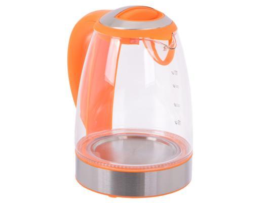 Купить Чайник Endever 317G-Kr 2400 Вт Оранжевый Прозрачный 1.8 Л Пластик/стекло