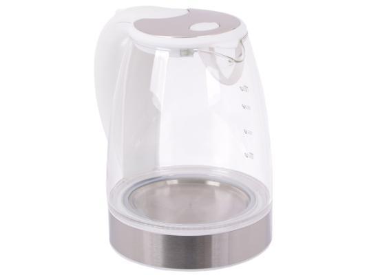 Купить Чайник Endever 319G-Kr 2400 Вт Белый Прозрачный 1.8 Л Пластик/стекло