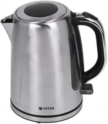 Чайник Vitek 7010 SR 2200 Вт серебристый 1.7 л металл чайник vitek vt 7007 st 2200 вт 1 7 л нержавеющая сталь серебристый