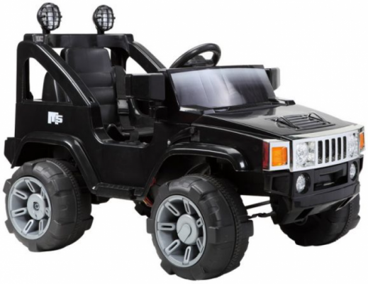 Джип р/у черный 28W*2,6V/10Ah*2 Пламенный мотор 86097 пламенный мотор машинка инерционная volvo пожарная охрана