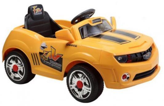 Машина р/у желтый 25W, 6V/7Ah Пламенный мотор 86098
