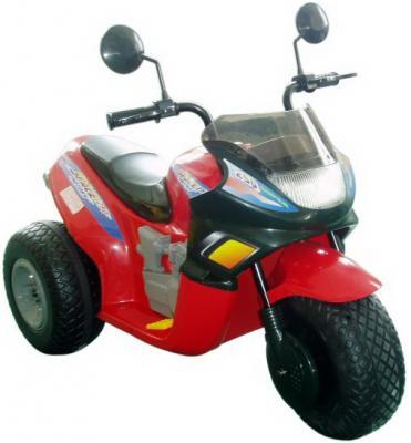 Мотоцикл красный 103 см., трехколесный Спейс 2*6 В Пламенный мотор CT-770 RD0A