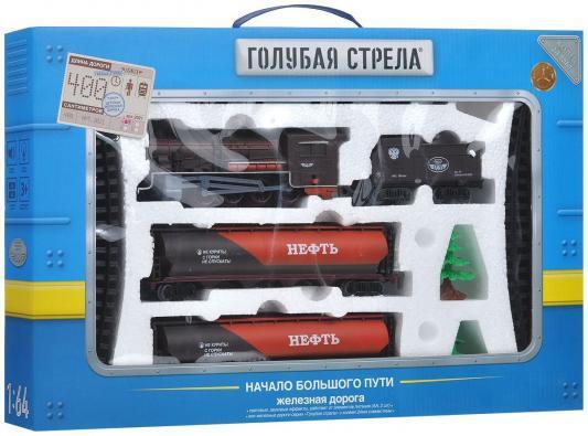 Железная дорога Голубая стрела, паровоз, тендер, 2 цистерны Голубая стрела 2021A железная дорога голубая стрела голубая стрела 87198