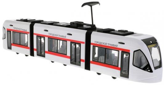 Трамвай Пламенный мотор Городской, открывающиеся двери белый 870170