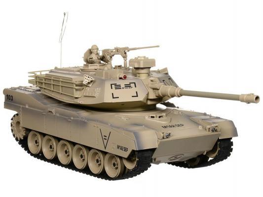 Танк на радиоуправлении Пламенный Мотор Abrams М1А2 (США) 1:18 пластик от 8 лет коричневый 87560 abrams фотография