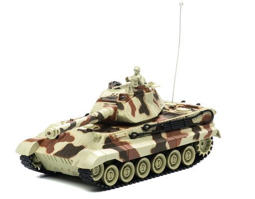 Танк на радиоуправлении Пламенный мотор King Tiger (Германия) 1:28 пластик от 4 лет камуфляж 87554 танк на радиоуправлении пламенный мотор king tiger 1 28