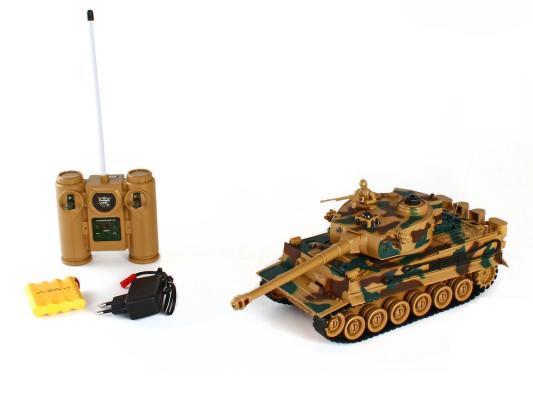 Танк на радиоуправлении Пламенный Мотор Tiger (Германия) 1:28 пластик от 4 лет камуфляж 87553
