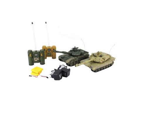 Танковый бой на радиоуправлении Пламенный Мотор Т-90 (Россия) - Abrams M1A2 (США) 1:28 пластик от 6 лет 870165
