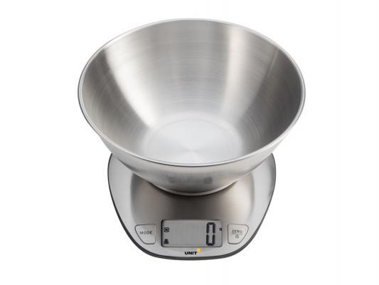 Весы кухонные Unit UBS-2153 серебристый