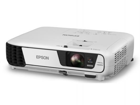 Проектор Epson EB-X31 LCDx3 1024x768 3200ANSI Lm 15000:1 VGA HDMI S-Video USB V11H720040  цены