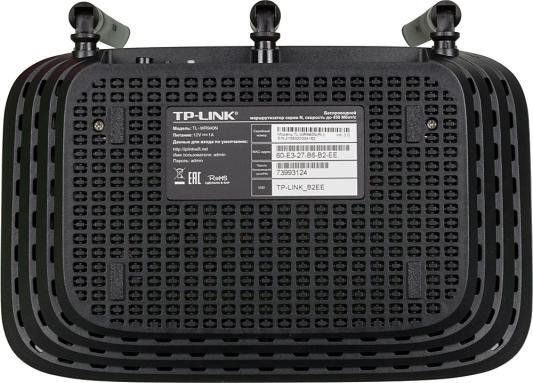 Беспроводной маршрутизатор TP-LINK TL-WR940N 802.11bgn 450Mbps 2.4 ГГц 4xLAN черный беспроводной маршрутизатор tp link tl wr942n 802 11bgn 450mbps 2 4 ггц 4xlan usb черный