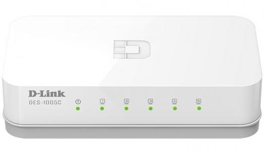 Коммутатор D-LINK DES-1005C/A1A неуправляемый 5 портов 10/100Mbps