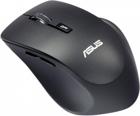 Мышь беспроводная ASUS WT425 чёрный USB 90XB0280-BMU000 мышь беспроводная asus wt425 синий usb радиоканал 90xb0280 bmu040