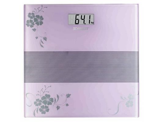 Весы напольные Scarlett SC-BS33E060 фиолетовый весы scarlett sc bs33e064