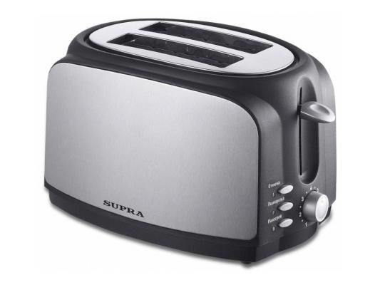 Тостер Supra TTS-217 серебристый чёрный тостер supra tts 355