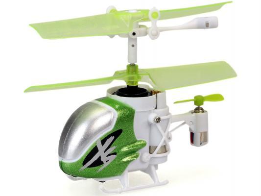 Вертолёт на радиоуправлении Silverlit Nano Falcon из книги рекордов Гиннесса 84702 белый с зеленым