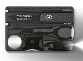 Швейцарская карта Victorinox SwissCard Lite 0.7333.T3 13 функций полупрозрачный черный