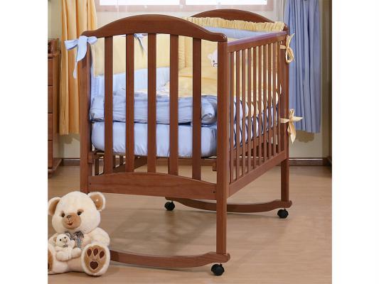 Кроватка-качалка Лель Люкс АБ 17.0 (орех светлый) кроватка качалка лель ромашка аб 16 0 орех светлый