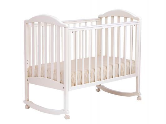 Кроватка-качалка Лель Люкс АБ 17.0 (белый) кроватка качалка лель ромашка аб 16 0 белый