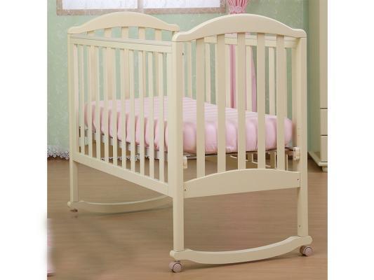 Кроватка-качалка Лель Люкс АБ 17.0 (ваниль) кроватка качалка лель ромашка аб 16 0 белый