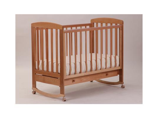 Кроватка-качалка Лель Ромашка АБ 16.1 (натуральный бук) кроватка качалка лель ромашка аб 16 0 белый