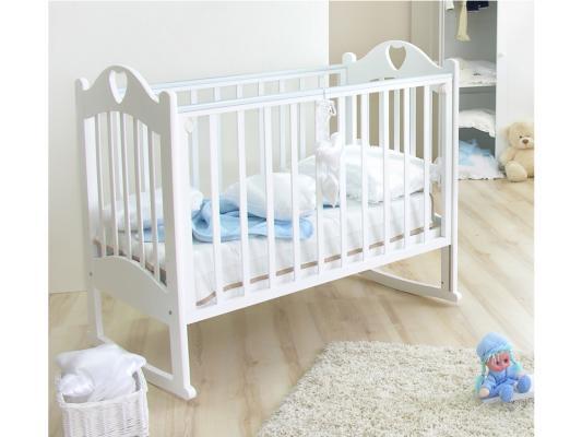 Кроватка-качалка Красная Звезда Любаша С635 (белый)