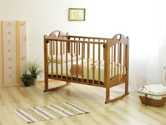 Кроватка-качалка Красная Звезда Любаша С635 (медовый)