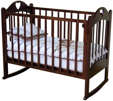 Кроватка-качалка Красная Звезда Любаша С635 (шоколад)