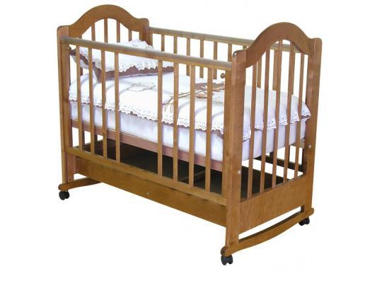Кроватка-качалка Красная Звезда Злата С353 (красно-коричневый) обычная кроватка красная звезда ирина с625 красно коричневая
