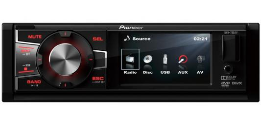 Фото #1: Автомагнитола Pioneer DVH-780AV USB MP3 CD DVD FM 1DIN 4x50Вт пульт ДУ черный