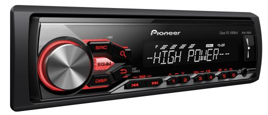 Автомагнитола Pioneer MVH-280FD USB MP3 CD FM 1DIN 4x100Вт черный