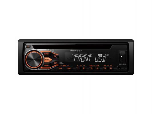 Автомагнитола Pioneer DEH-1800UBA USB MP3 CD FM RDS 1DIN 4x50Вт пульт ДУ черный