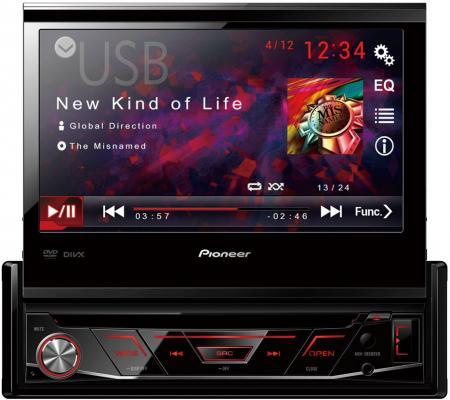 Купить со скидкой Автомагнитола CD DVD Pioneer AVH-3800DVD 1DIN 4x50Вт