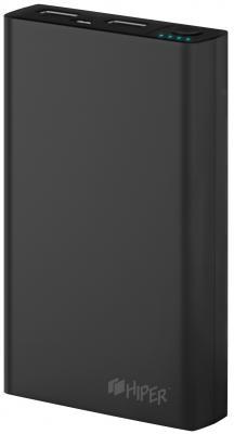 Портативное зарядное устройство HIPER Power Bank RP10000 10000мАч черный портативное зарядное устройство hiper power bank sps6500 6500мач черный