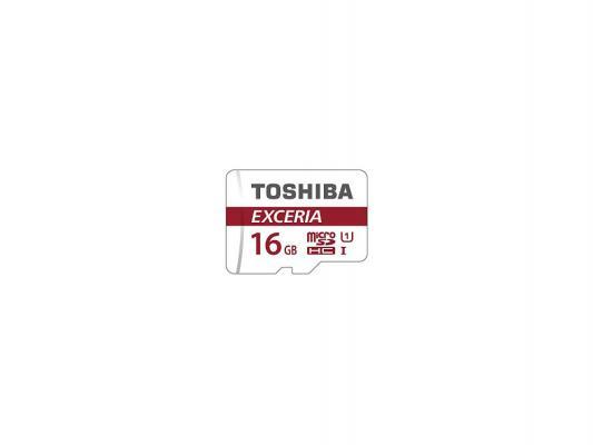 Карта памяти Micro SDHC 16Gb Class 10 Toshiba THN-M302R0160EA + адаптер SD