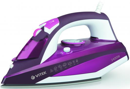лучшая цена Утюг Vitek VT-1215 PK 2400Вт розовый