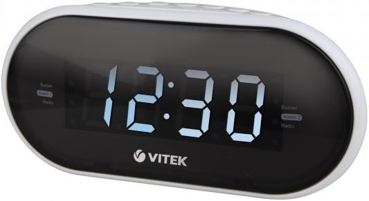 Часы с радиоприёмником Vitek VT-6602W часы vitek vt 6602 bk