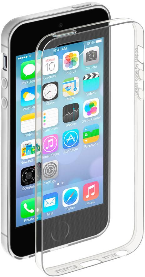 цена на Чехол Deppa Gel Case для iPhone 5 iPhone 5S iPhone SE прозрачный + защитная пленка 85200