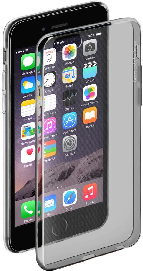 Чехол Deppa Gel Case для iPhone 6 iPhone 6S чёрный + защитная пленка прозрачный-черный 85203 deppa art case для iphone 6 6s art венеция прозрачный