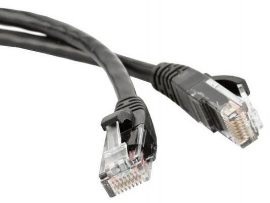 Патч-корд UTP 5E категории 5м Hyperline PC-LPM-UTP-RJ45-RJ45-C5e-5M-LSZH-BK черный цена и фото