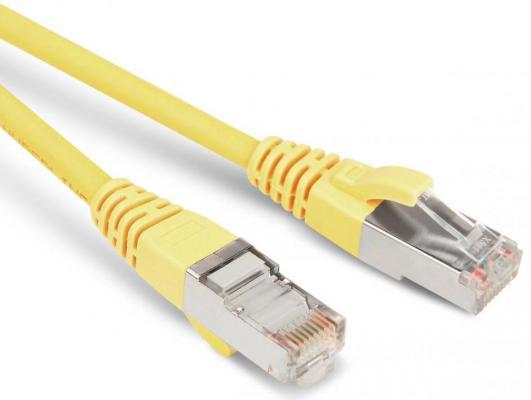 Патч-корд  F/UTP 5е категории 3м Hyperline PC-LPM-STP-RJ45-RJ45-C5e-3M-LSZH-YL желтый