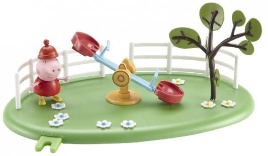 Игровой набор Peppa Pig Игровая площадка: Качели-качалка Пеппы 2 предмета 28775 peppa pig игровой набор площадка качели