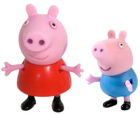 Купить Игровой набор Peppa Pig Пеппа и Джордж от 2 лет 2 предмета 28813, унисекс, Машинки и фигурки