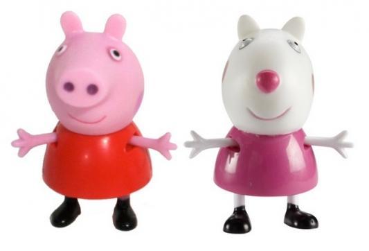 Купить Игровой набор Peppa Pig Пеппа и Сьюзи от 3 лет 2 предмета 28816, унисекс, Машинки и фигурки