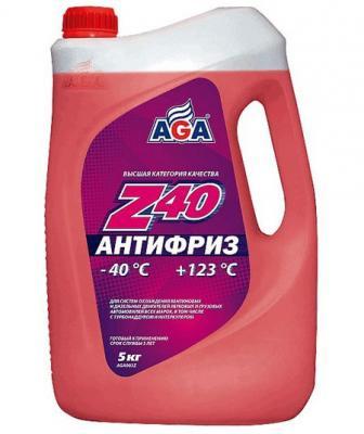 Антифриз AGA 002 Z 5л антифриз aga тосол l40 10 кг