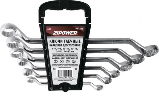 Набор гаечных ключей ZIPOWER PM 4196 6шт набор ключей комбинированных zipower pm 5154