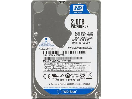Жесткий диск для ноутбука 2.5 2 Tb 5400rpm 8Mb cache Western SATAIII WD20NPVZ жесткий диск пк western digital wd40ezrz 4tb wd40ezrz