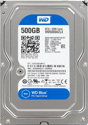 Жесткий диск 3.5 500 Gb 7200rpm 32Mb cache Western Digital Blue Desktop SATAIII WD5000AZLX жесткий диск пк western digital wd5000azlx 500gb wd5000azlx