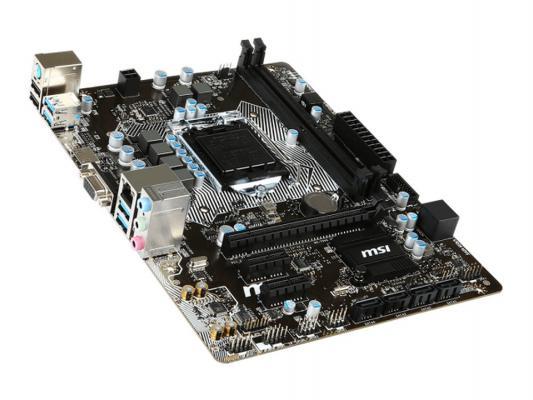 Мат. плата для ПК MSI B150M PRO-VH Socket 1151 B150 2xDDR4 1xPCI-E 16x 2xPCI-E 1x 6xSATAIII mATX Retail